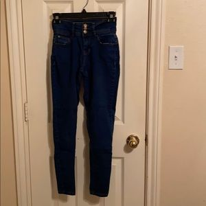 Fashion Nova high-waist skinny jeans.